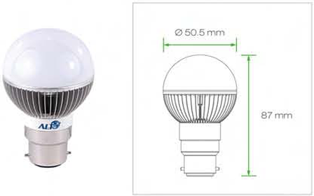 B22D G19 Kogellamp 230V Bajonet B22D lampen
