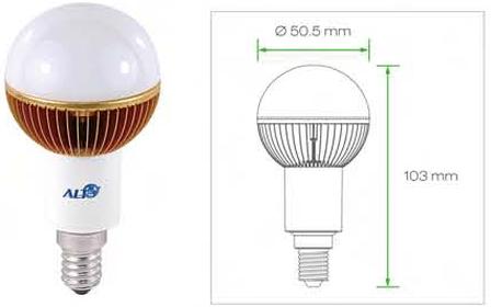 E14 G19 Kogellamp 230V E14 lampen