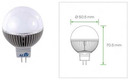 GU5.3 G19 Kogellamp 12V GU5.3 / GX5.3 lampen 12V