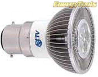MR16 spotje B22D 230V 1W Luxeon koudwit 38° led spot 120Lm - led spots