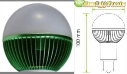 Led kogel BA15S bajonet G19 12V 7W groen 170Lm 180° Epistar - led kogellampen