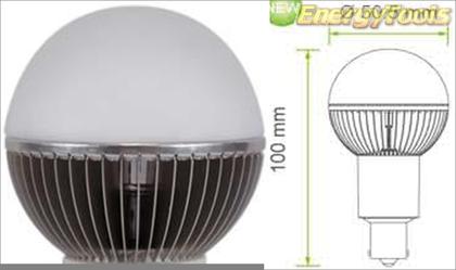 Led kogel BA15S bajonet G19 12V 7W neutraal wit 410Lm 180° Cree MC-E - led kogellampen