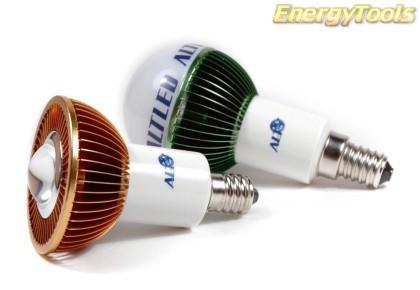 MR16 spotje E11 230V 1W Luxeon koudwit 120° led spot 120Lm - led spots
