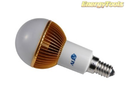 Led kogel E14 G19 230V 7W warm wit 355Lm 180° Cree MC-E - led kogellampen