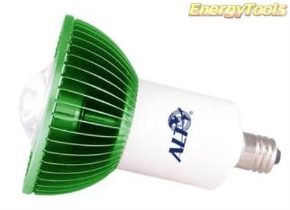 MR16 spotje E14 230V 1W Luxeon groen 38° led spot 120Lm - led spots