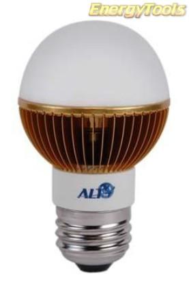 Led kogel E27 G19 230V 7W warm wit 400Lm 180° Luxeon - led kogellampen