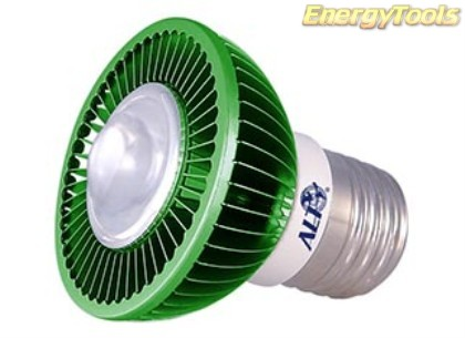 MR16 spotje E27 230V 3W Luxeon groen 120° led spot 200Lm - led spots
