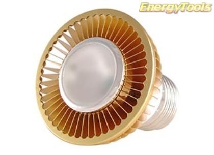 MR16 spotje E27 230V 3W Luxeon warmwit 120° led spot 125Lm - led spots