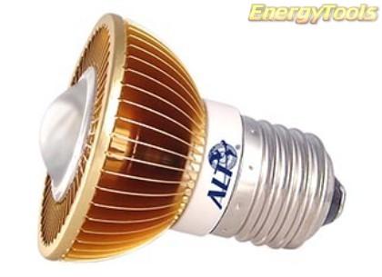 MR16 spotje E27 230V 3W Luxeon warmwit 38° led spot 125Lm - led spots