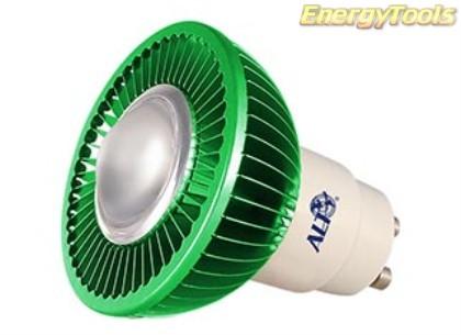 MR16 spotje GU10 230V 1W Luxeon groen 60° led spot 120Lm - led spots