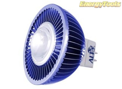 MR16 spotje GU5.3 12V 1W Luxeon blauw 120° led spot 35Lm - led spots