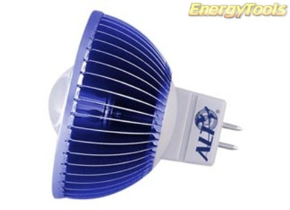 MR16 spotje GU5.3 12V 3W Luxeon blauw 60° led spot 65Lm - led spots