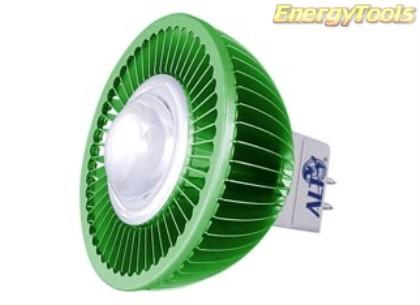 MR16 spotje GU5.3 12V 5W Epistar groen 60° led spot 140Lm - led spots