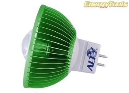 MR16 spotje GU5.3 12V 3W Luxeon groen 38° led spot 200Lm - led spots