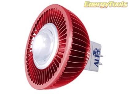 MR16 spotje GU5.3 12V 5W Epistar rood 120° led spot 120Lm - led spots