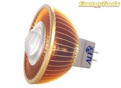 MR16 spotje GU5.3 12V 3W Luxeon warmwit 38° led spot 125Lm - led spots
