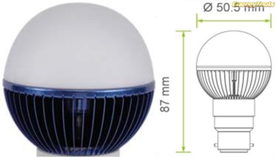 Led kogel B22D bajonet G19 230V 1W blauw 35Lm 180° Philips Rebel - led kogellampen