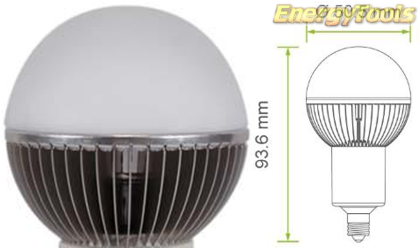 Led kogel E11 G19 230V 7W koud wit 475Lm 180° Cree MC-E - led kogellampen