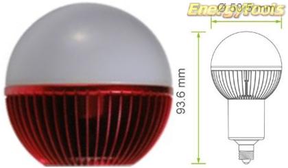 Led kogel E11 G19 230V 5W rood 120Lm 180° Epistar - led kogellampen
