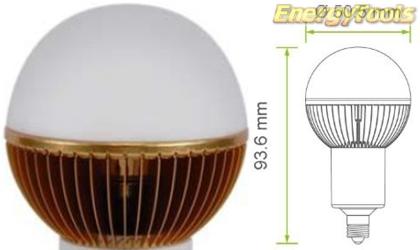 Led kogel E11 G19 230V 7W warm wit 355Lm 180° Cree MC-E - led kogellampen
