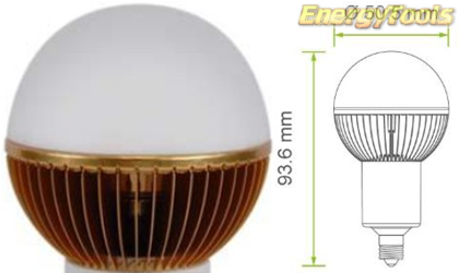 Led kogel E11 G19 230V 7W warm wit 400Lm 180° Luxeon - led kogellampen