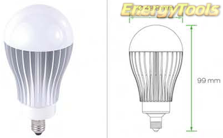 Led Peer E11 A19 230V 7W warm wit 355Lm 180° Cree - led peertjes