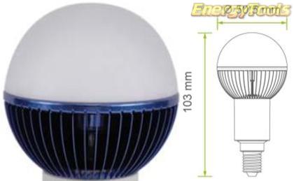 Led kogel E14 G19 230V 5W blauw 70Lm 180° Epistar - led kogellampen