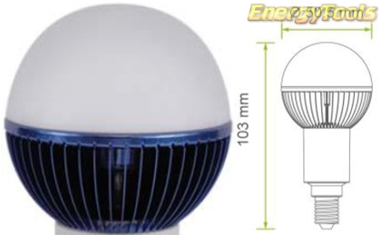 Led kogel E14 G19 230V 1W blauw 35Lm 180° Philips Rebel - led kogellampen