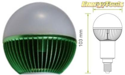 Led kogel E14 G19 230V 7W groen 170Lm 180° Epistar - led kogellampen