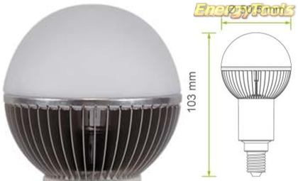 Led kogel E14 G19 230V 7W neutraal wit 410Lm 180° Cree MC-E - led kogellampen