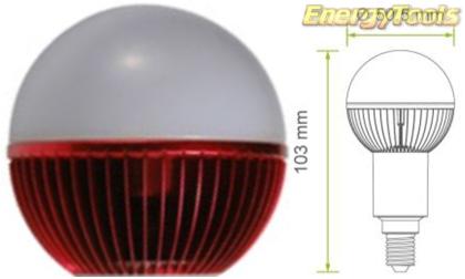 Led kogel E14 G19 230V 5W rood 120Lm 180° Epistar - led kogellampen