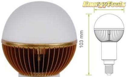 Led kogel E14 G19 230V 7W warm wit 520Lm 180° Cree XP-G - led kogellampen