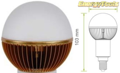 Led kogel E14 G19 230V 7W warm wit 320Lm 180° Luxeon - led kogellampen