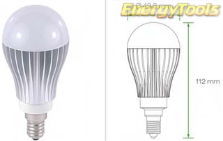 Led Peer E14 A19 230V 7W koud wit 475Lm 180° Cree - led peertjes