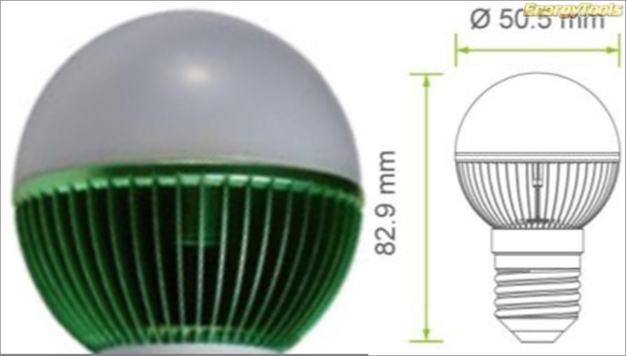 Led kogel E27 G19 230V 1W groen 120Lm 180° Philips Rebel - led kogellampen