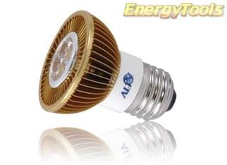 Led spot E27 MR16 230Volt 7Watt warm wit 400Lm 15° Luxeon - led spots