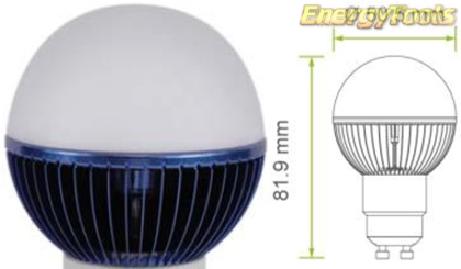 Led kogel GU10 G19 230V 1W blauw 35Lm 180° Philips Rebel - led kogellampen