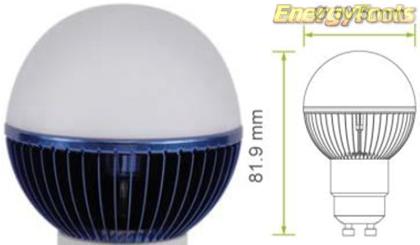 Led kogel GU10 G19 230V 3W blauw 65Lm 180° Philips Rebel - led kogellampen