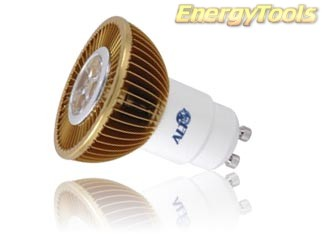 Led spot GU10 MR16 230Volt 7Watt warm wit 400Lm 15° Luxeon - led spots