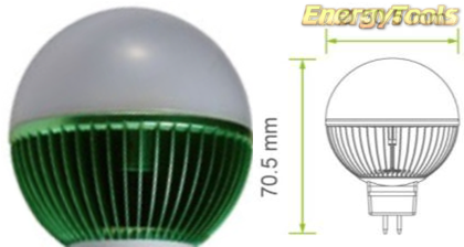Led kogel GU5.3 G19 12V 1W groen 120Lm 180° Philips Rebel - led kogellampen