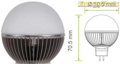 Led kogel GU5.3 G19 12V 5W koud wit 220Lm 180° Epistar - led kogellampen