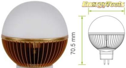 Led kogel GU5.3 G19 12V 5W warm wit 120Lm 180° Epistar - led kogellampen