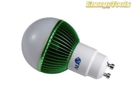 Led kogel GU10 G19 230V 7W groen 170Lm 180° Epistar - led kogellampen