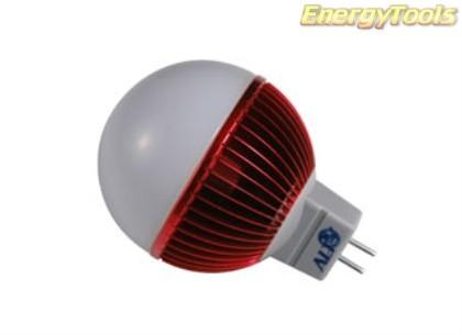 Led kogel GU5.3 G19 12V 5W rood 120Lm 180° Epistar - led kogellampen