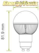gu10 g19 led groeilamp afmeting