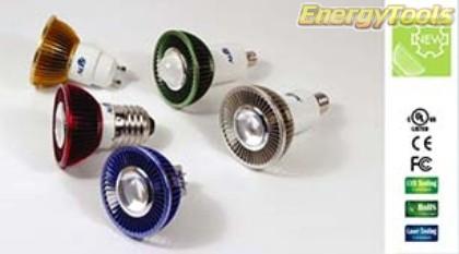 MR16 spotje B22D 230V 3W Luxeon groen 38° led spot 200Lm - led spots