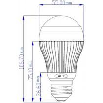 Led Peer E27 A55 230V 10W neutraal wit 600 lumen 180º Cree XP-G - led peertjes