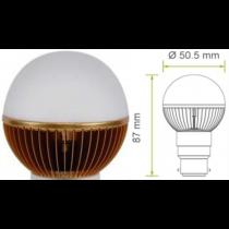 Led kogel B22D bajonet G19 220V 5W warm wit 150Lm 180° Epistar  - kogellampen