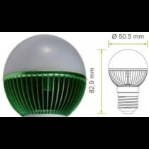 Groene Led kogellamp Epistar E27 G19 220V 7W 170Lm 180°  - kogellampen