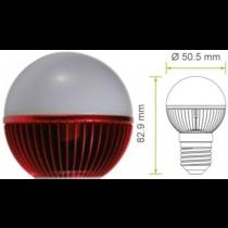Led kogel E27 G19 220V 5W rood 120Lm 180° Epistar  - kogellampen